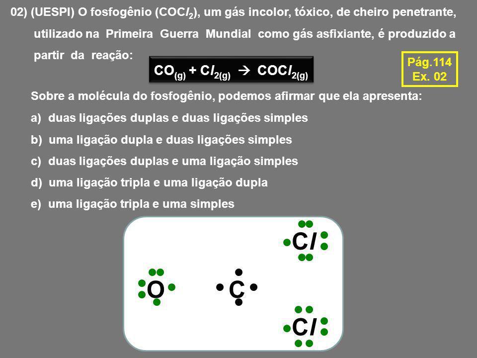 Cl O C Cl CO(g) + Cl2(g)  COCl2(g)