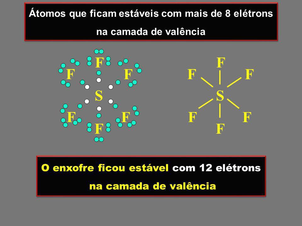 Átomos que ficam estáveis com mais de 8 elétrons