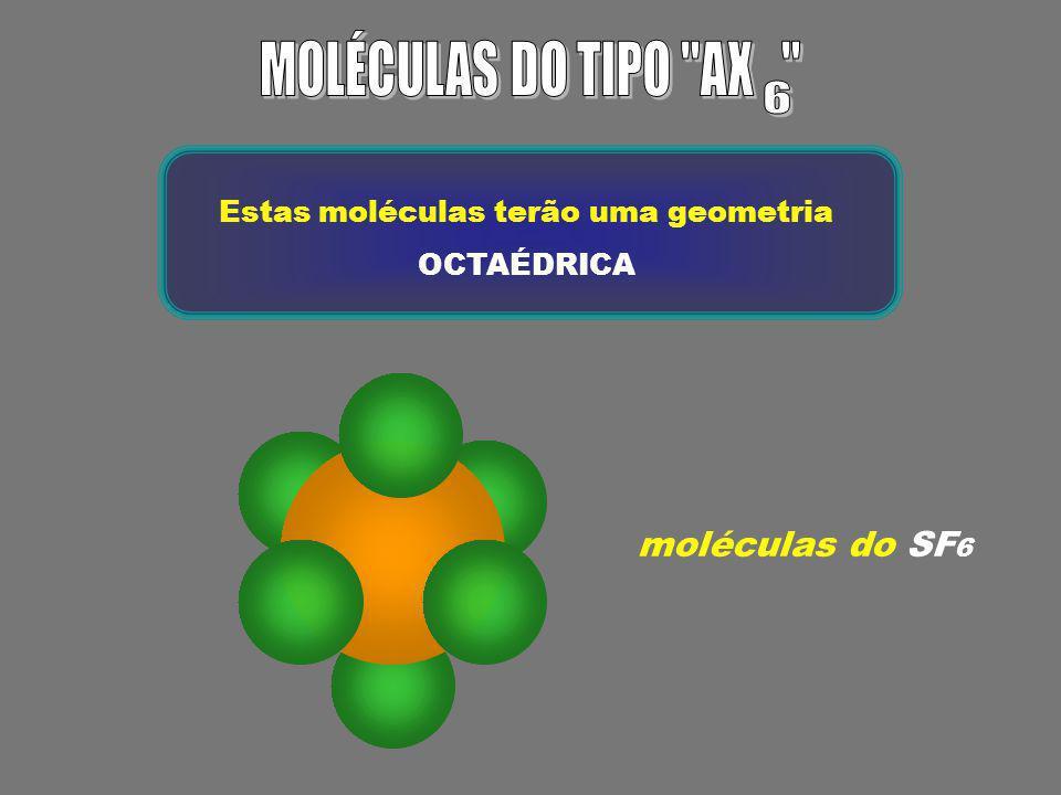 Estas moléculas terão uma geometria