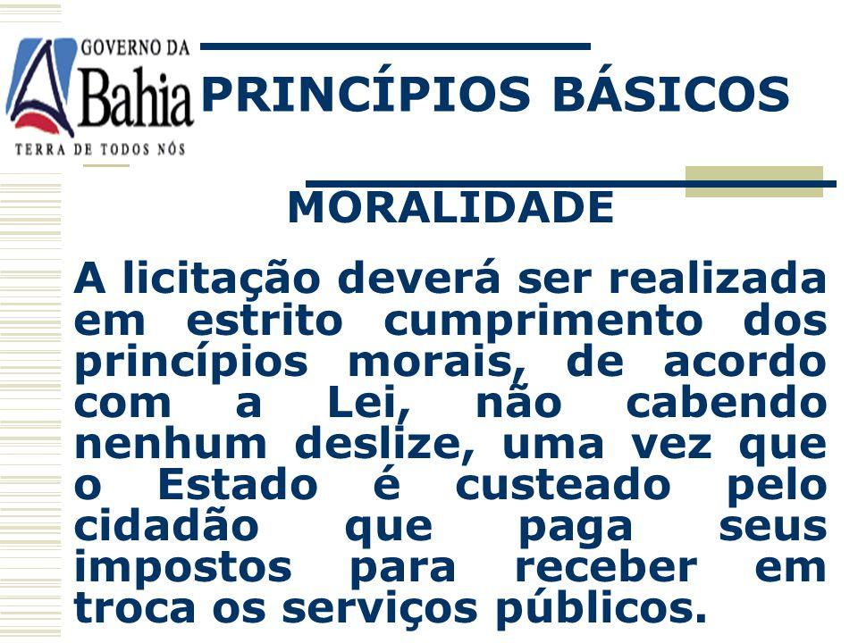 PRINCÍPIOS BÁSICOS MORALIDADE