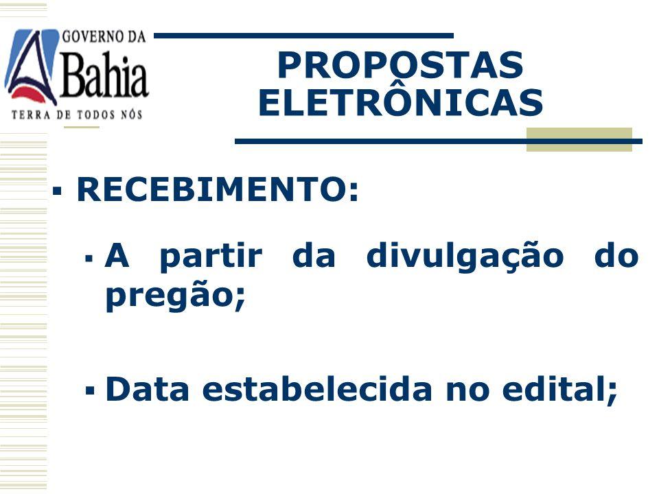 PROPOSTAS ELETRÔNICAS
