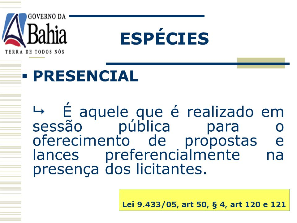 ESPÉCIES PRESENCIAL.