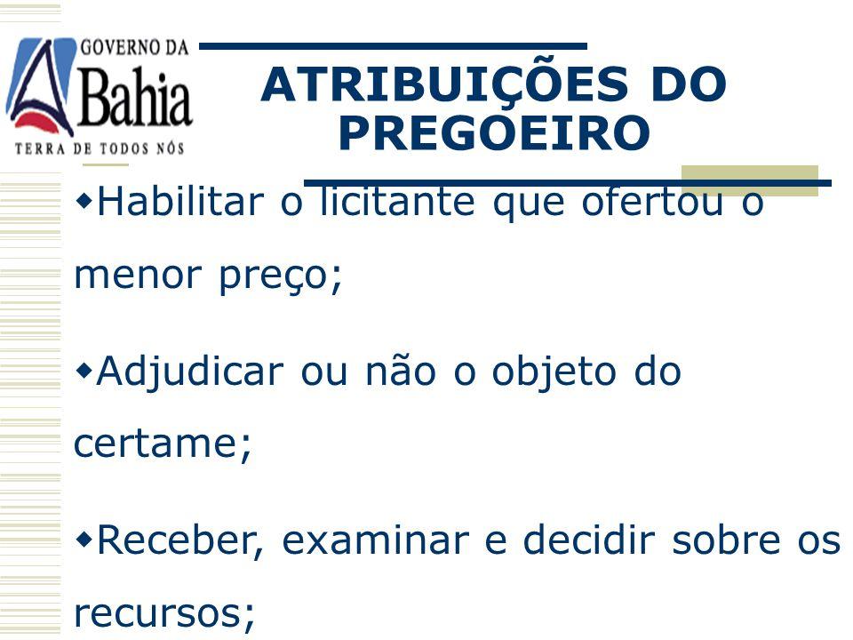 ATRIBUIÇÕES DO PREGOEIRO