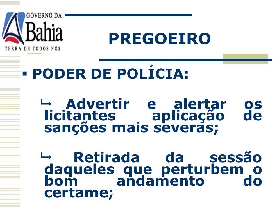 PREGOEIRO PODER DE POLÍCIA: