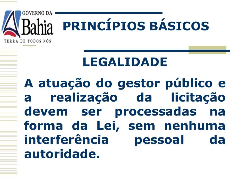 PRINCÍPIOS BÁSICOS LEGALIDADE.