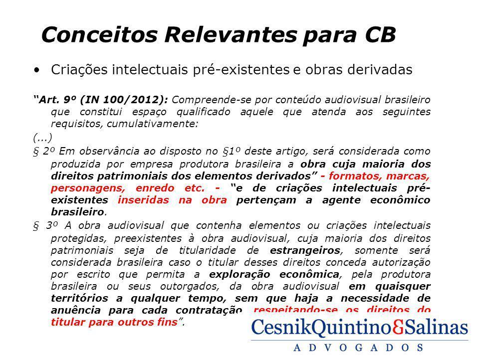 Conceitos Relevantes para CB