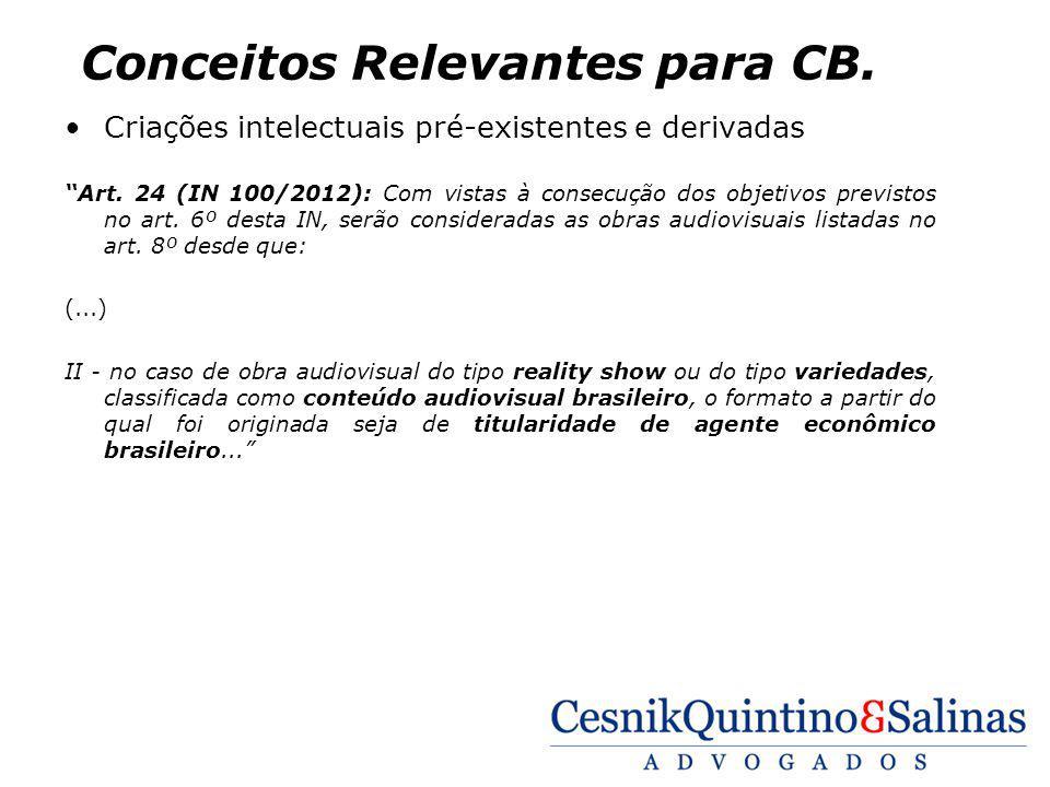 Conceitos Relevantes para CB.