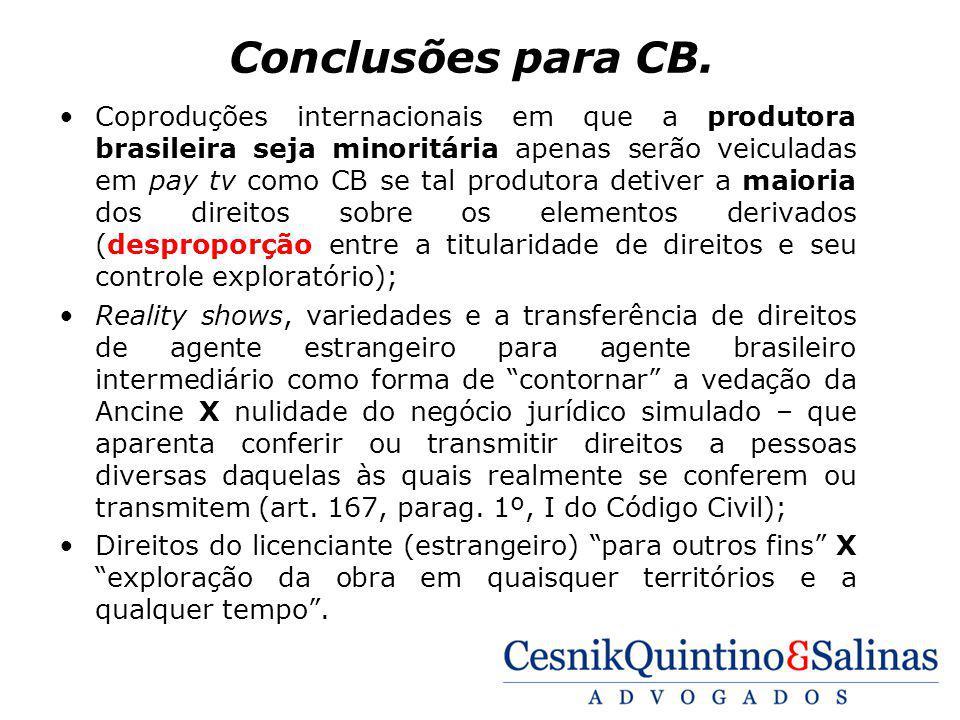 Conclusões para CB.