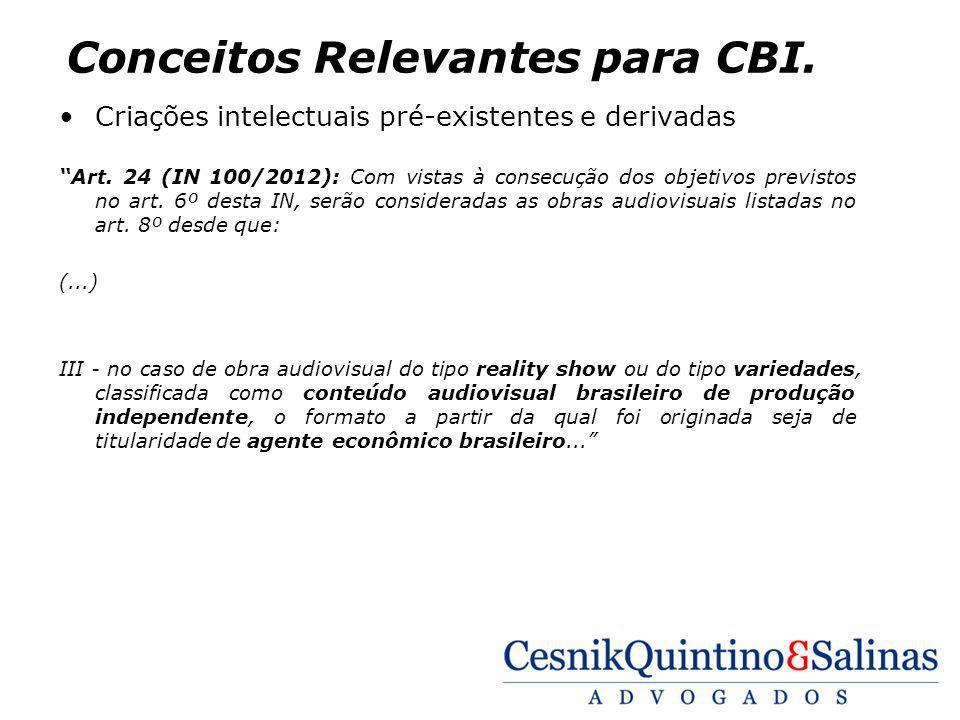 Conceitos Relevantes para CBI.