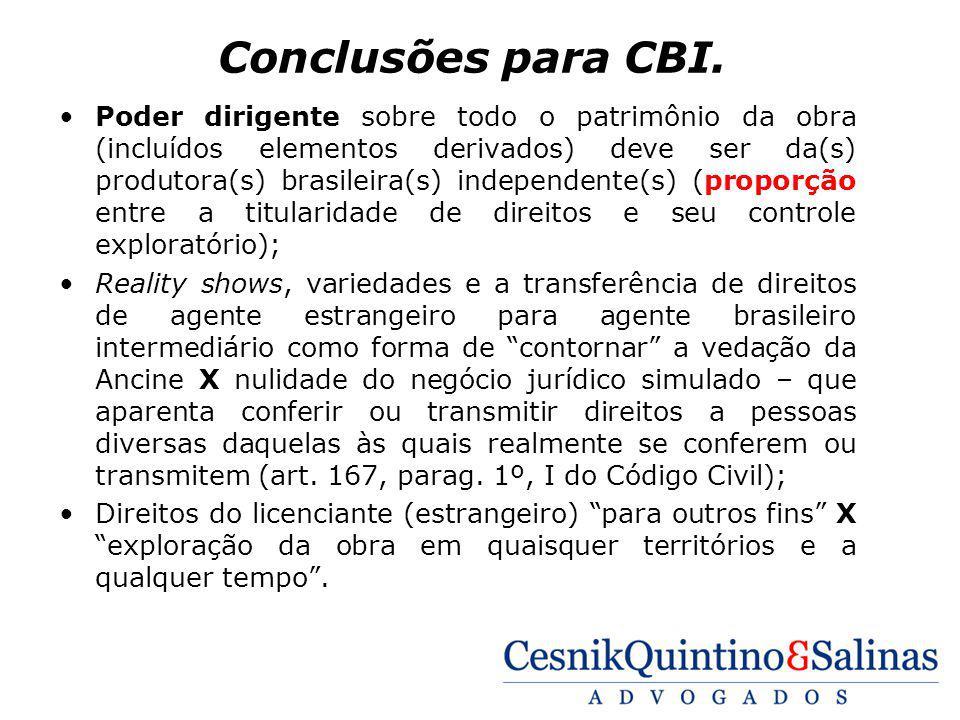 Conclusões para CBI.