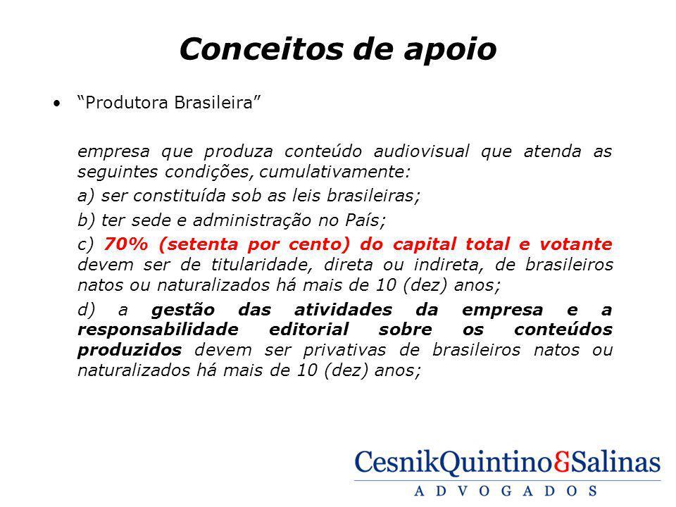 Conceitos de apoio Produtora Brasileira