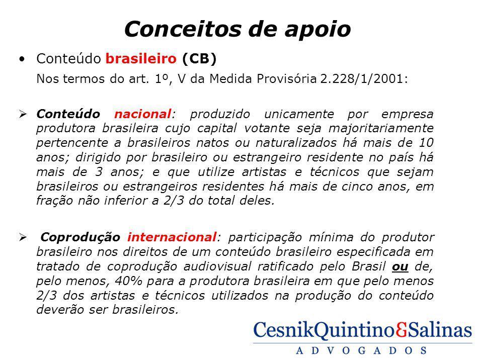 Conceitos de apoio Conteúdo brasileiro (CB)