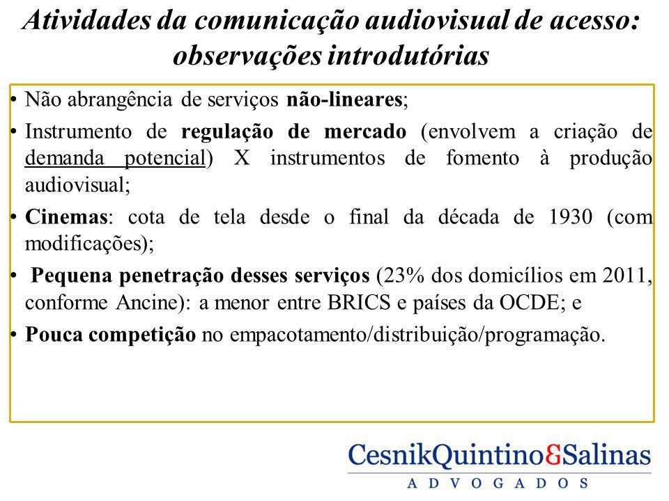 Atividades da comunicação audiovisual de acesso: observações introdutórias