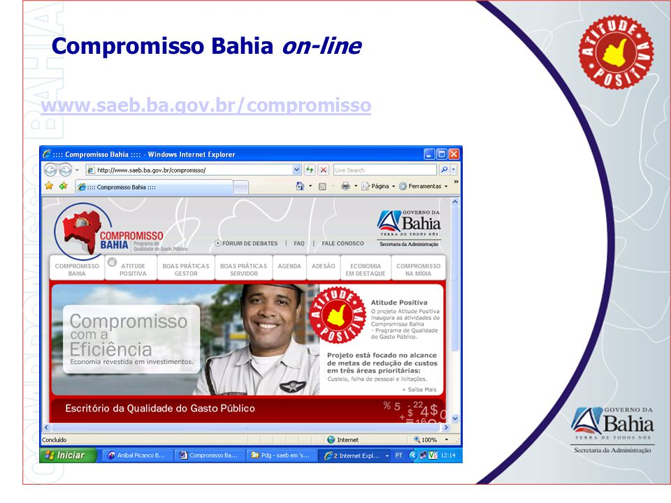 Compromisso Bahia on-line