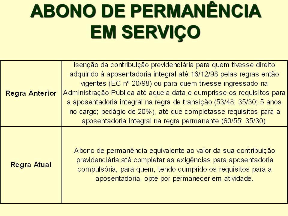 ABONO DE PERMANÊNCIA EM SERVIÇO