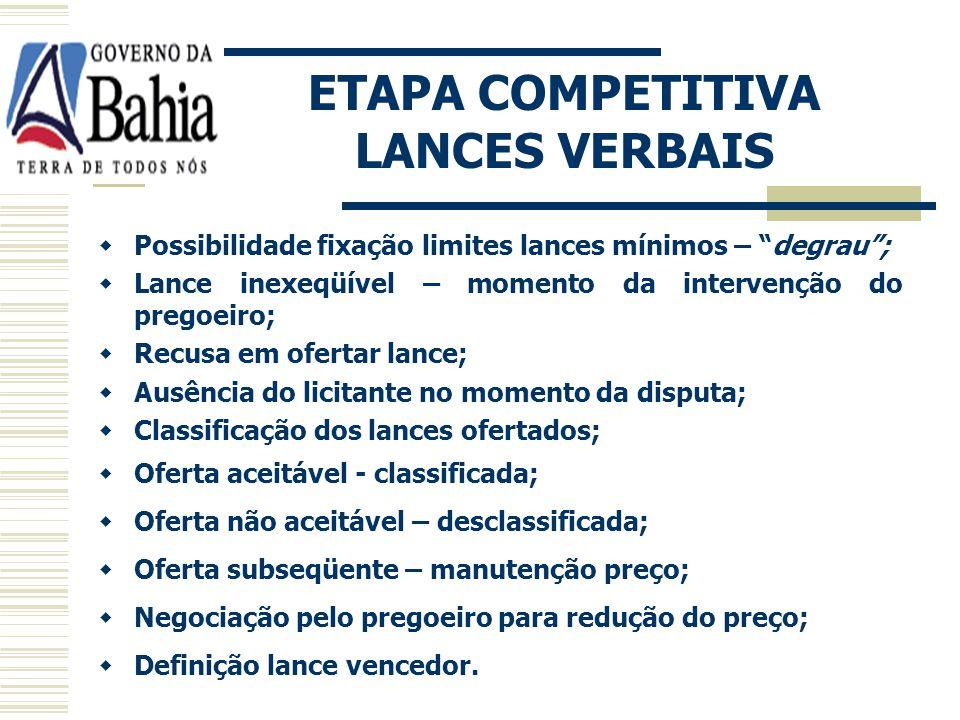 ETAPA COMPETITIVA LANCES VERBAIS