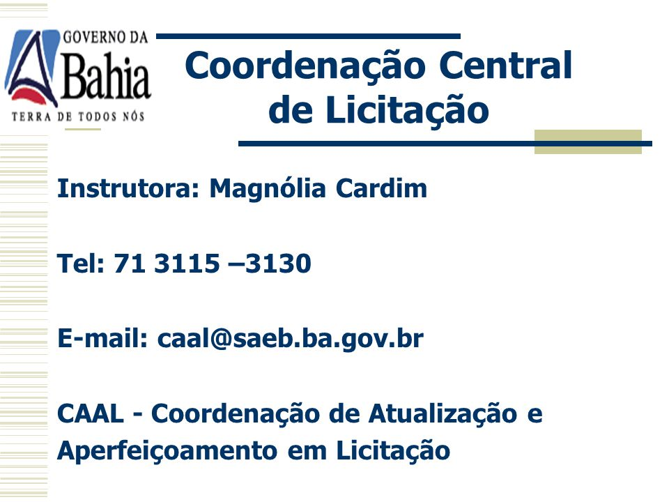 Coordenação Central de Licitação