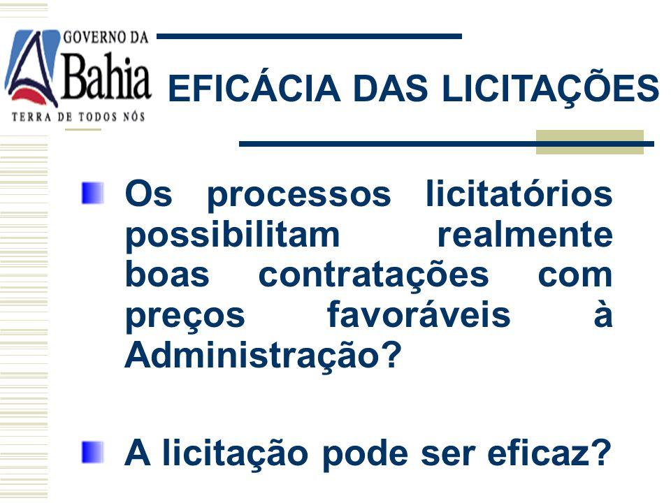 EFICÁCIA DAS LICITAÇÕES