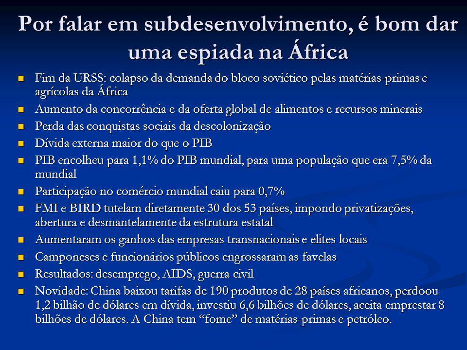 Por falar em subdesenvolvimento, é bom dar uma espiada na África