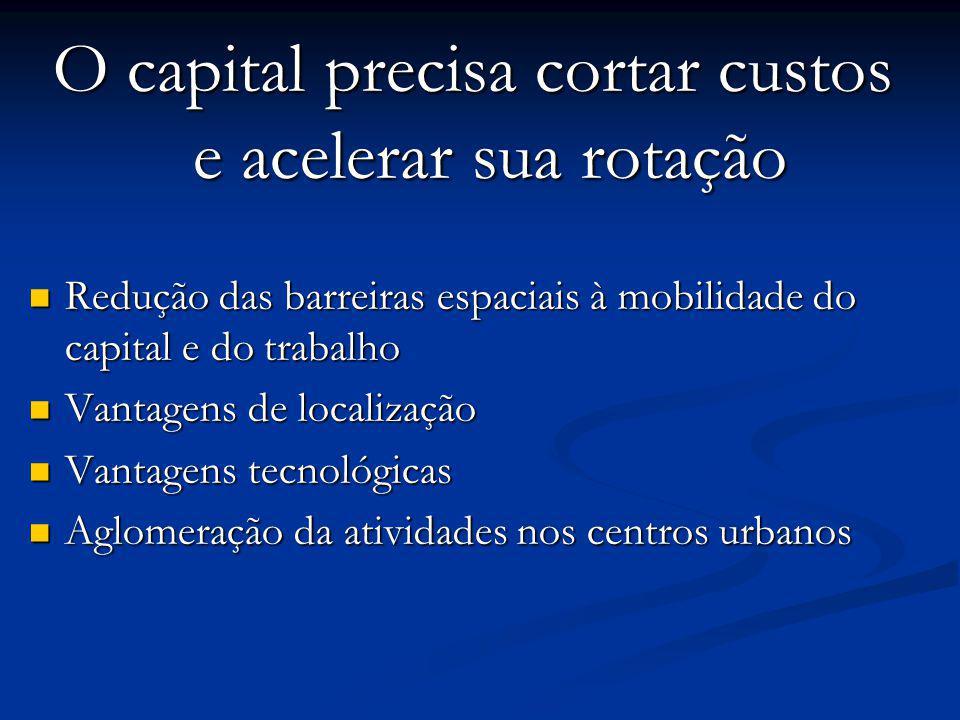 O capital precisa cortar custos e acelerar sua rotação