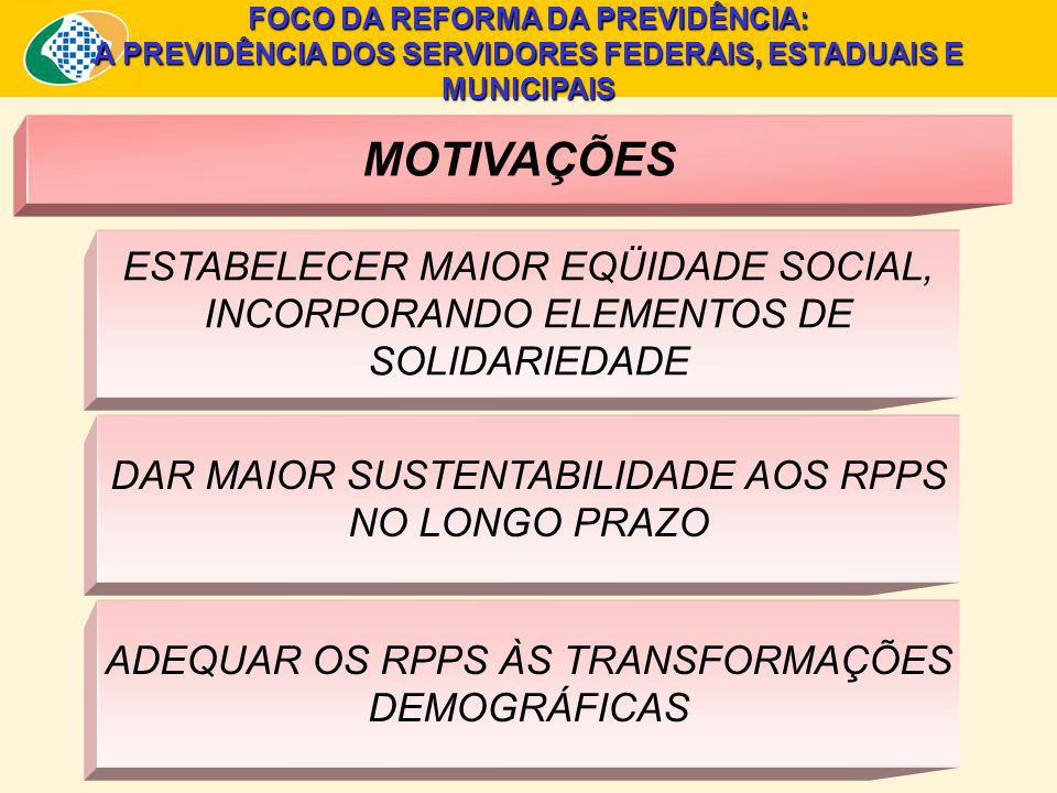 FOCO DA REFORMA DA PREVIDÊNCIA: A PREVIDÊNCIA DOS SERVIDORES FEDERAIS, ESTADUAIS E MUNICIPAIS