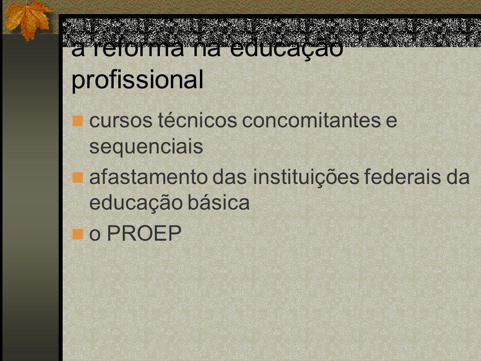 a reforma na educação profissional