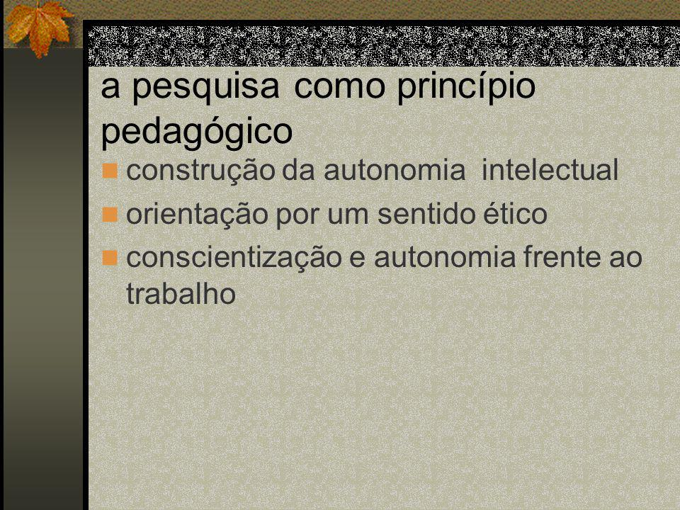 a pesquisa como princípio pedagógico