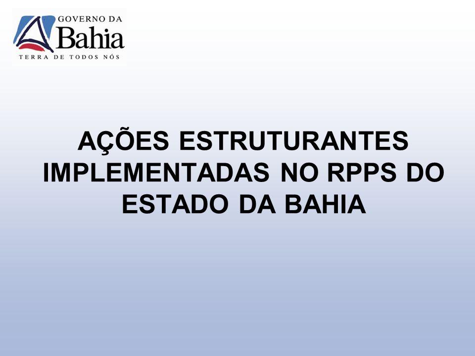 AÇÕES ESTRUTURANTES IMPLEMENTADAS NO RPPS DO ESTADO DA BAHIA