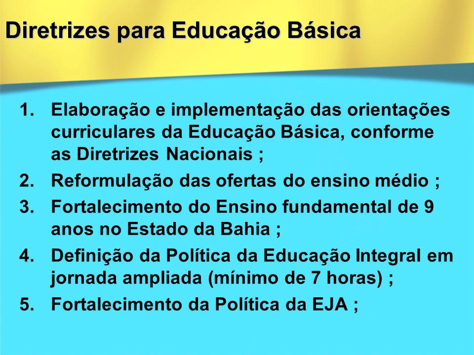 Diretrizes para Educação Básica