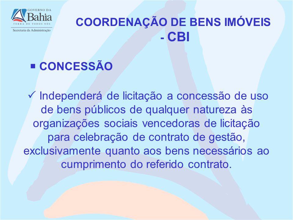 COORDENAÇÃO DE BENS IMÓVEIS
