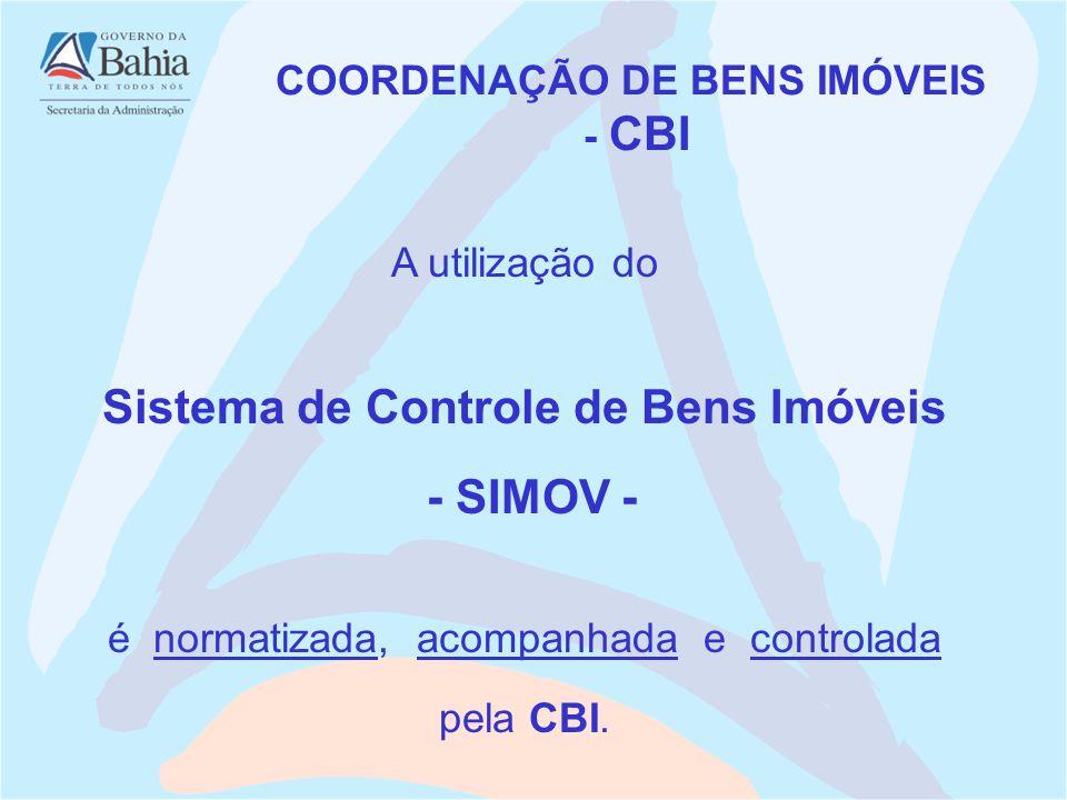 COORDENAÇÃO DE BENS IMÓVEIS Sistema de Controle de Bens Imóveis