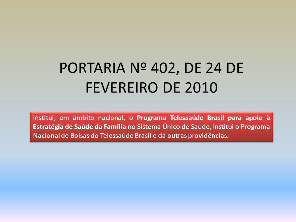 PORTARIA Nº 402, DE 24 DE FEVEREIRO DE 2010