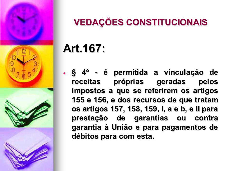 VEDAÇÕES CONSTITUCIONAIS