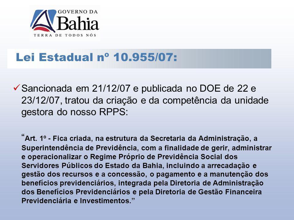 Lei Estadual nº 10.955/07: