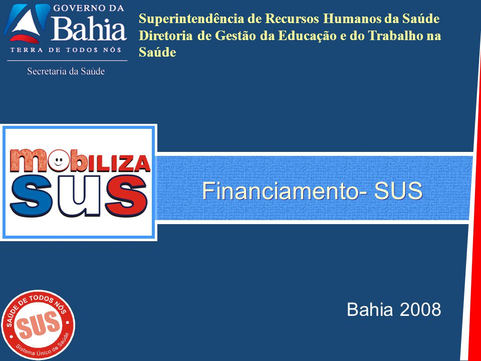 Financiamento- SUS Bahia 2008