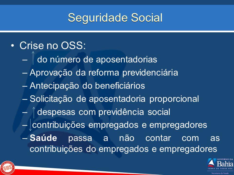 Seguridade Social Crise no OSS: do número de aposentadorias