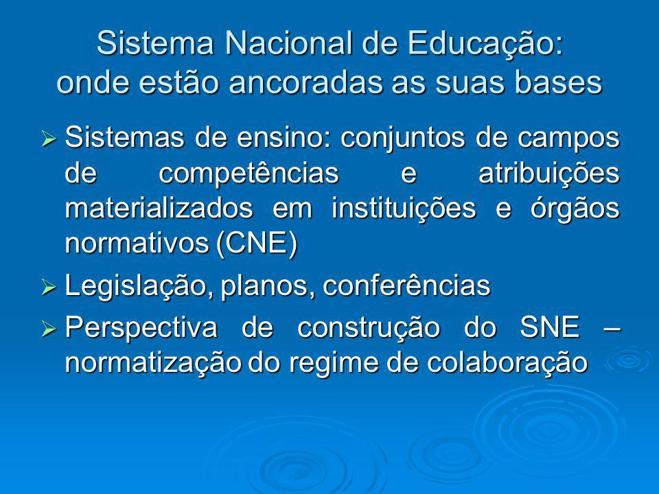 Sistema Nacional de Educação: onde estão ancoradas as suas bases