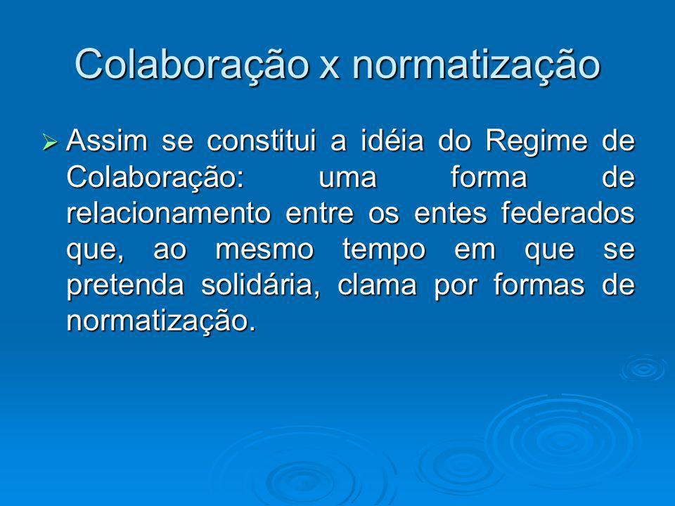 Colaboração x normatização