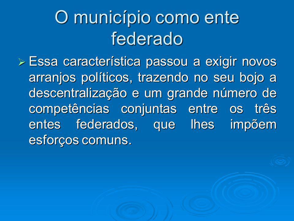 O município como ente federado