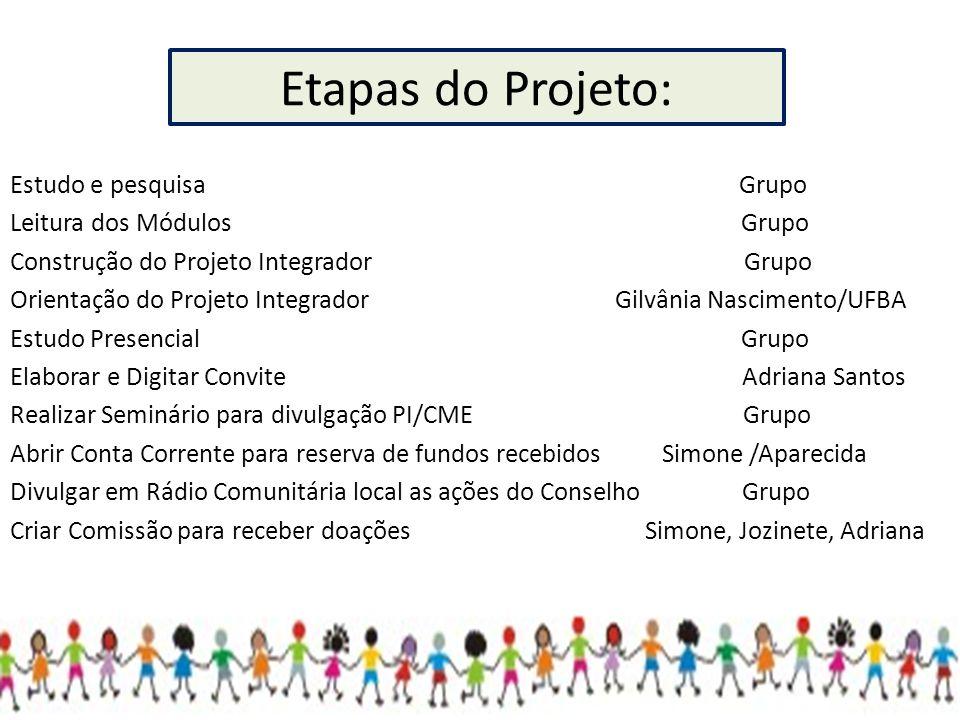 Etapas do Projeto: