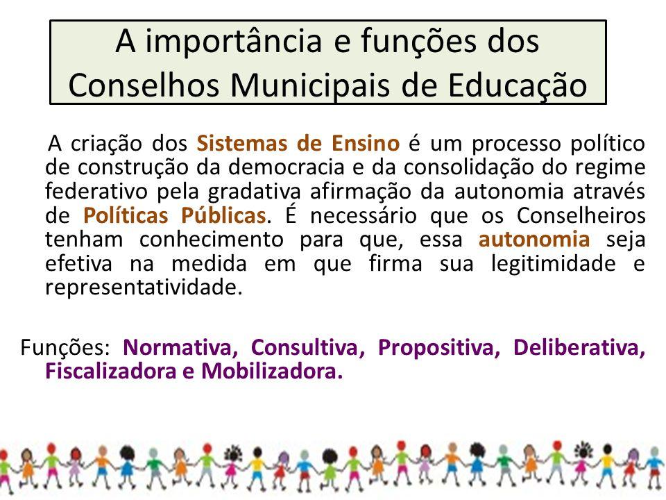 A importância e funções dos Conselhos Municipais de Educação