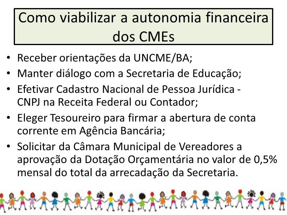 Como viabilizar a autonomia financeira dos CMEs