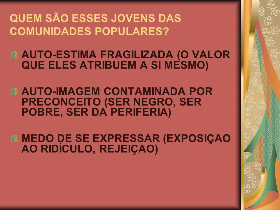 QUEM SÃO ESSES JOVENS DAS COMUNIDADES POPULARES