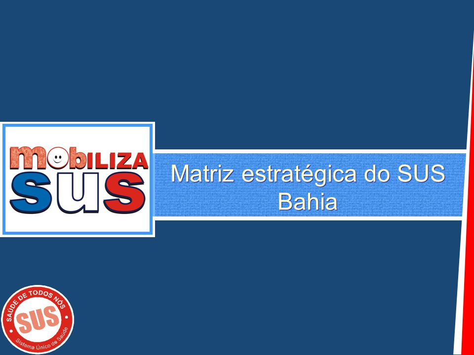 Matriz estratégica do SUS Bahia