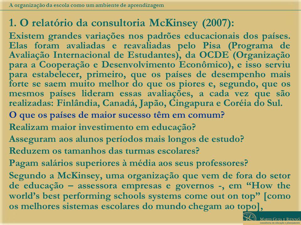 O relatório da consultoria McKinsey (2007):