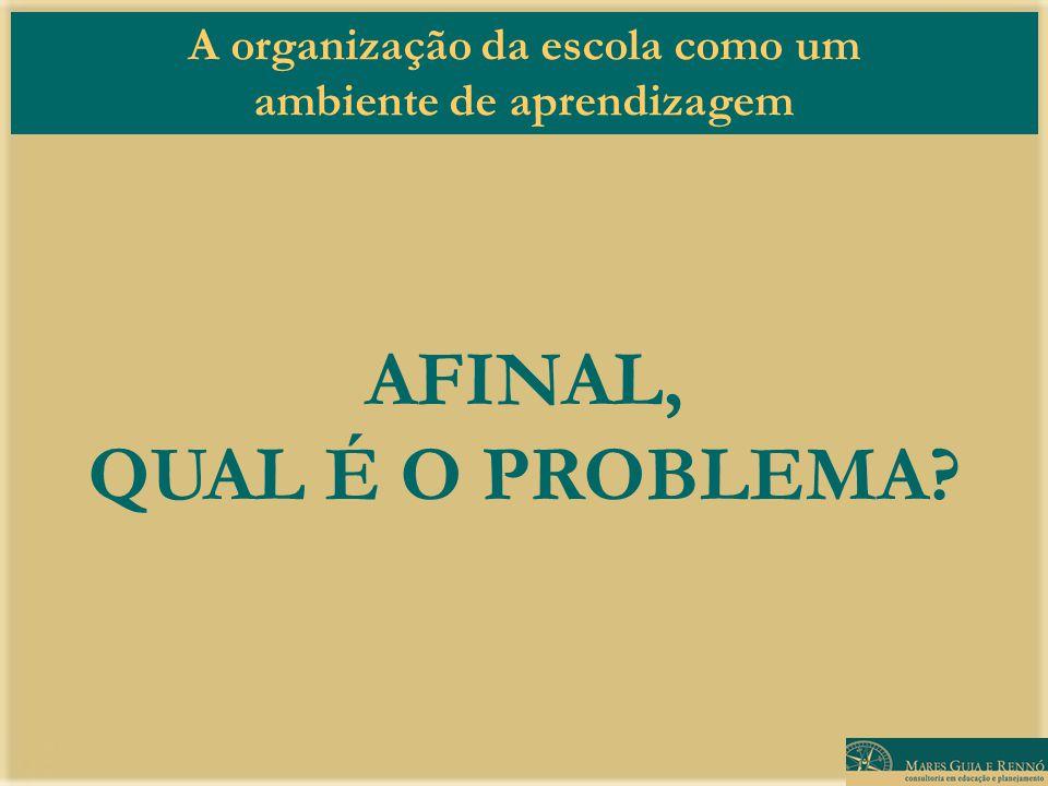 AFINAL, QUAL É O PROBLEMA
