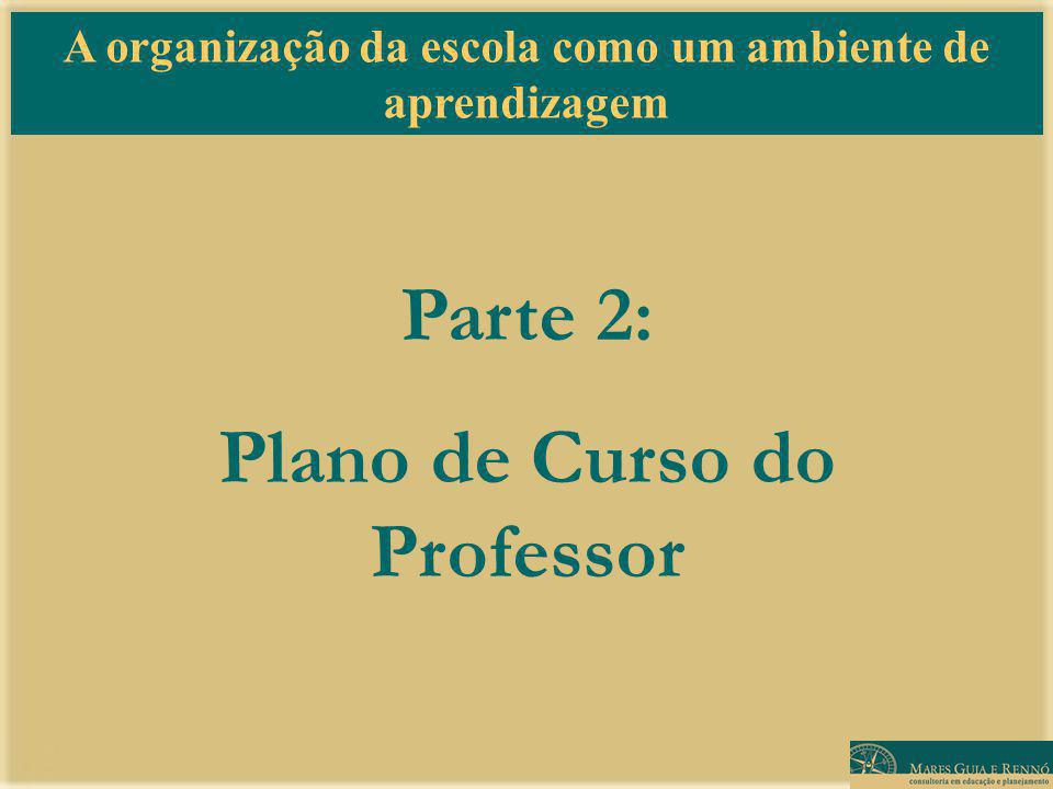 Parte 2: Plano de Curso do Professor