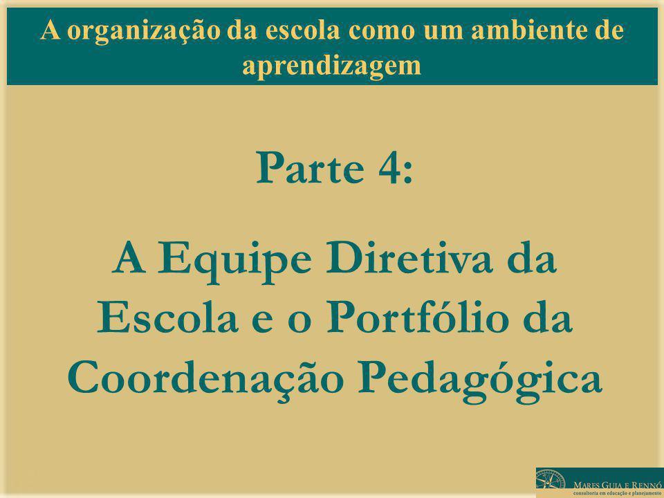 A Equipe Diretiva da Escola e o Portfólio da Coordenação Pedagógica