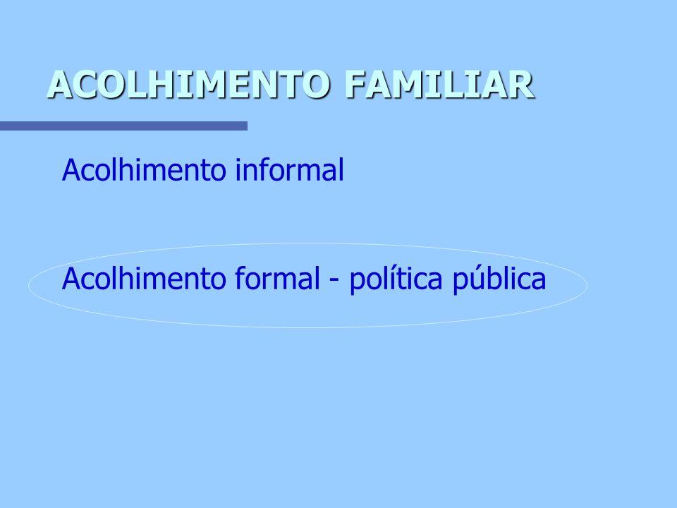 ACOLHIMENTO FAMILIAR Acolhimento informal
