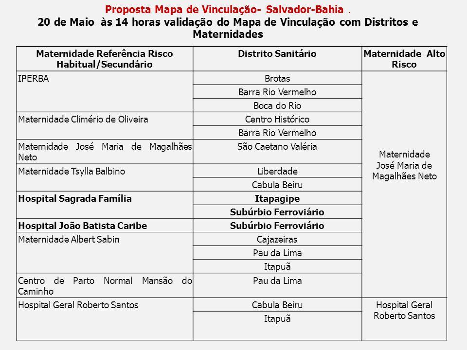 Proposta Mapa de Vinculação- Salvador-Bahia .